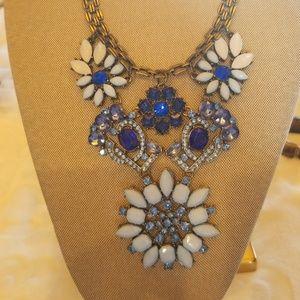 Blue costume necklace